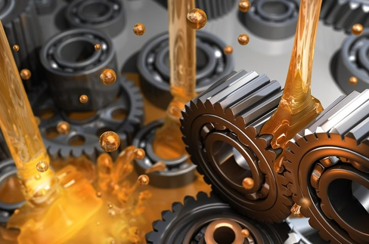 Three different types of lubricants